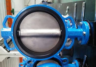 PTFE Lined Centric Butterfly Valve Self Lubricated Shaft Bear ATEX Wafer Type Butterfly Valve