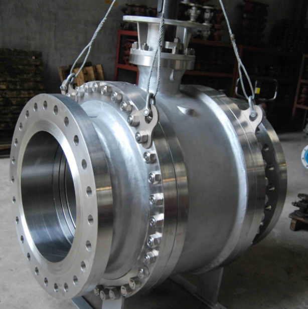 Pneumatic Worm Gear Ball Valve , Metal Seated Ball Valves For High Temperature