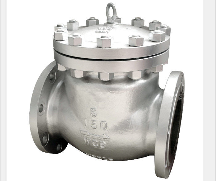 BW Flanged End Swing Check Valve Stellited Threaded Seat WCB CF3M CF8M Alloy 20