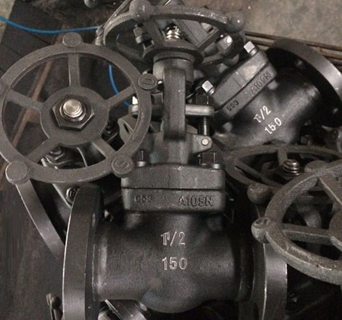 Gas Oil Industry Handwheel Gate Valve API 602 ANSI B1.20.1 BSP , Flanged Ends